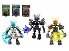 Robot bojovník plast 14cm asst 6 druhů na kartě