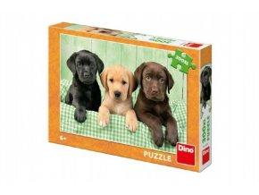 Puzzle tři štěňátka XL 47x33cm 300 dílků v krabici 27x19x4cm