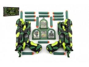 Sada pistole 2ks + pěnové náboje 16ks plast v krabici 50x25x5cm
