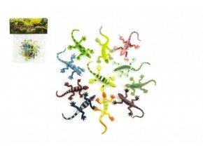 Ještěrky/hmyz plast 7cm mix barev v sáčku
