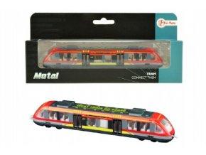 Tramvaj/metro/vlak kov/plast 17cm v krabičce 21x9,5x4cm