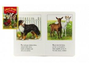 Knížka - Lidová říkadla o zvířátkách 16x23cm od 12 měsíců