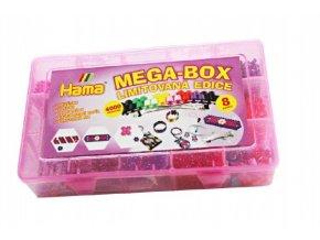 Zažehlovací korálky Mega box + přívěsky a doplňky 4000ks v plastovém boxu 27x17x6cm