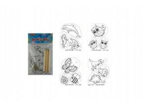 Smršťovačky s pastelkami 10x16cm asst druhů v sáčku (1 ks)