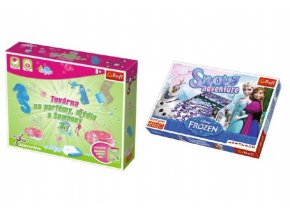 PACK Science for you Továrna na parfémy, mýdla a šampony 3v1 + desková hra Frozen v krabici