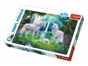 Puzzle Jednorožci koně 260 dílků 60x40cm v krabici 40x27x4cm