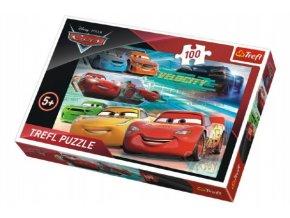 Puzzle Cars 3 100 dílků 41x27,5cm v krabici 29x20x4cm