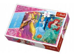 Puzzle Princezny Disney 27x20cm 30 dílků v krabičce 21x14x4cm