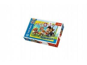 Puzzle Tlapková Patrola/Tlapková patrola Ryder a kamarádi 27x20cm 30 dílků v krabičce 21x14x4cm