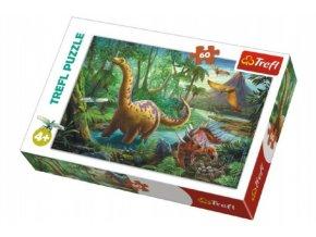 Puzzle Dinosauři 33x22cm 60 dílků v krabici 21x14x4cm