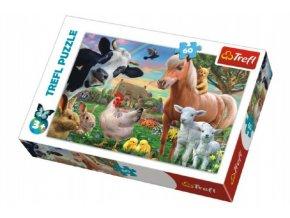 Puzzle Veselá Farma Zvířátka 33x22cm 60 dílků v krabici 21x14x4cm