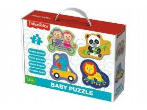 Puzzle baby Fisher-Price zvířátka 2ks v krabici 27x19x6cm 1+