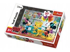Puzzle Mickey a Minnie slaví narozeniny Disney 27x20cm 30 dílků skladem