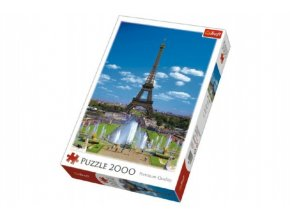 Puzzle Eiffelova Věž, Paříž 2000 dílků 68x96cm v krabici 27x40x6cm