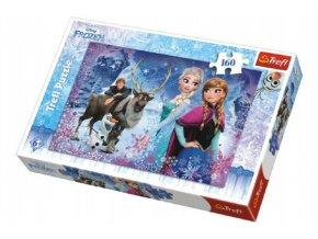 Puzzle Frozen/Ledové království Zimní dobrodružství 41x27,5cm 160 dílků v krabici 29x19x4cm
