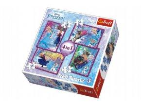 Puzzle 4v1 Frozen / Ledové Království Disney