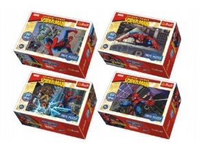 Minipuzzle Spiderman/Disney 54 dílků asst 4 druhy v krabičce 6x9x4cm (1 ks)