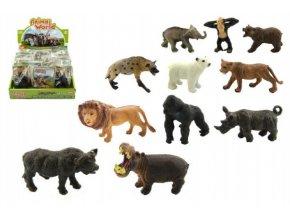 Zvířátka safari ZOO plast 6cm asst 12druhů v sáčku (1 ks)