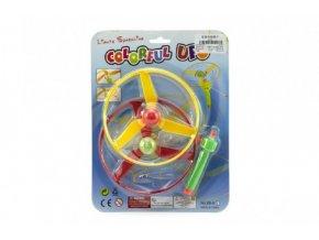 Vystřelovací vrtulky svítící 2ks + startér plast na kartě 21x28x2cm