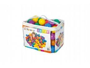 Míček/Míčky do hracích koutů 8 cm barevný 100ks v plastové tašce 2+
