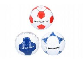 Míč fotbalový Dunlop šitý asst 3 barvy v sáčku