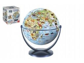 IQ kvízová hra s globusem společenská vědomostní hra v krabici 440 otázek 18x21x18cm