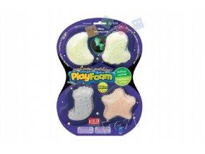 PlayFoam® Modelína/Plastelína kuličková svítící ve tmě 4 barvy na kartě 19x26x3cm