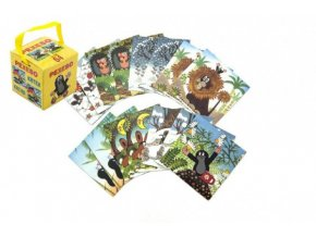 Pexeso Krtek papírové společenská hra 32 obrázkových dvojic v papírové krabičce