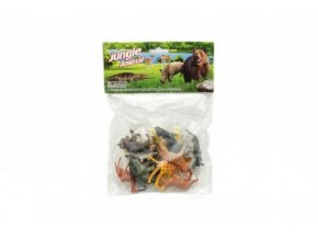 Zvířátka safari ZOO plast 6cm 12ks v sáčku