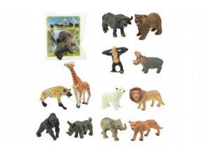 Zvířátko safari ZOO plast 6cm 12 druhů v sáčku