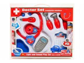 Sada doktor/lékař 9ks plast v krabici 35x29x5cm
