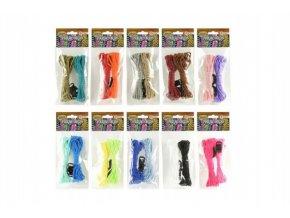 Vyrob si vlasní náramek paracords provázky asst 10 barev v sáčku