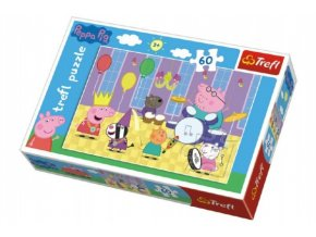 Puzzle Prasátko Peppa na plese 33x22cm 60 dílků