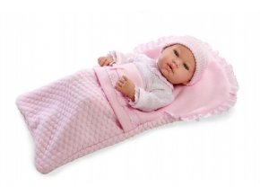 Panenka/miminko 42cm růžové s doplňky v krabici