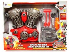 Motor šroubovací + nářadí plast 20ks na baterie se zvukem se světlem v krabici 42x32x7cm
