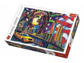 Puzzle Barvy New Yorku 1000 dílků 68x48cm v krabici 40x27x6cm