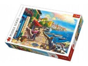 Puzzle Slunečné nábřeží 1000 dílků 68x48cm v krabici 40x27x6cm