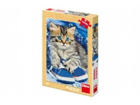 Puzzle kotě v botách XL 33x47cm 300 dílků v krabici 19x27x4cm