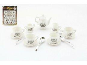 Nádobí - kávová a čajová sada plast 15ks 21x28x4cm na kartě