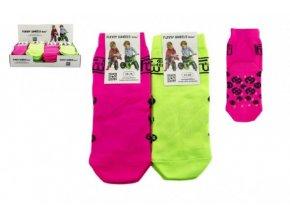 Ponožky Funny Wheels reflexní protiskluzové 2 velikosti asst 2 barvy