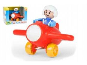 My First Racers letadlo + figurka plast 10cm v krabici 15x11x11cm 12m+