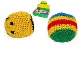 Hakysák míček footbag 6cm háčkovaný textilní v sáčku (1 ks)