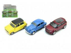 Auto Welly mini kov 7cm asst 12 druhů v krabičce 3(1 ks)
