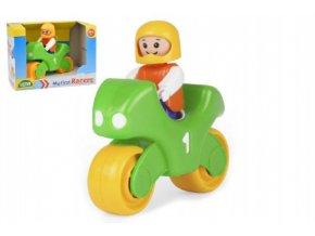 My First Racers motorka + figurka plast 10cm v krabici 15x11x11cm 12m+
