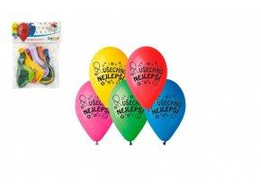 Balonek /Balonky nafukovací 10'' průměr 26cm Všechno nejlepší 10ks v sáčku