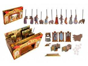 Divadlo Stilet pohádkové loutkové papírové 11ks postaviček v krabici 52x32x6cm