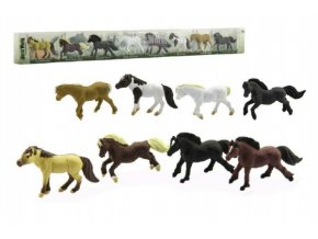 Koně plast 7cm 8ks v tubě 57x6x3cm