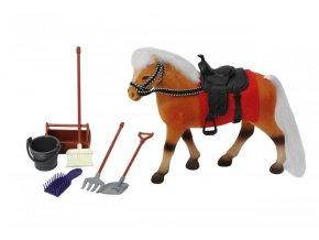 Kůň 18 cm s příslušenstvím