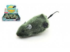 Myš na klíček plast/plyš 12cm