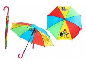 Deštník Krtek mechanický 2 obrázky 57x8cm